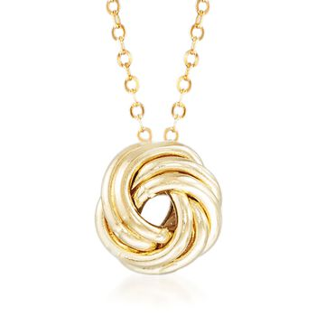 "Italian 18kt Yellow Gold Rosette Necklace. 18"", , default"