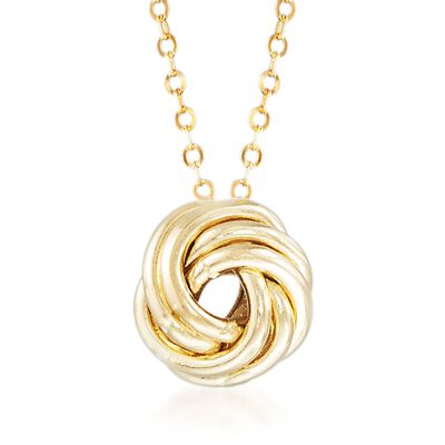 Italian 18kt Yellow Gold Rosette Necklace, , default
