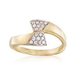 .21 ct. t.w. Diamond Geometric Bypass Ring in 14kt Yellow Gold, , default