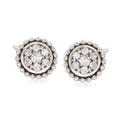 .22 ct. t.w. Diamond Cluster Stud Earrings in 14kt White Gold, , default