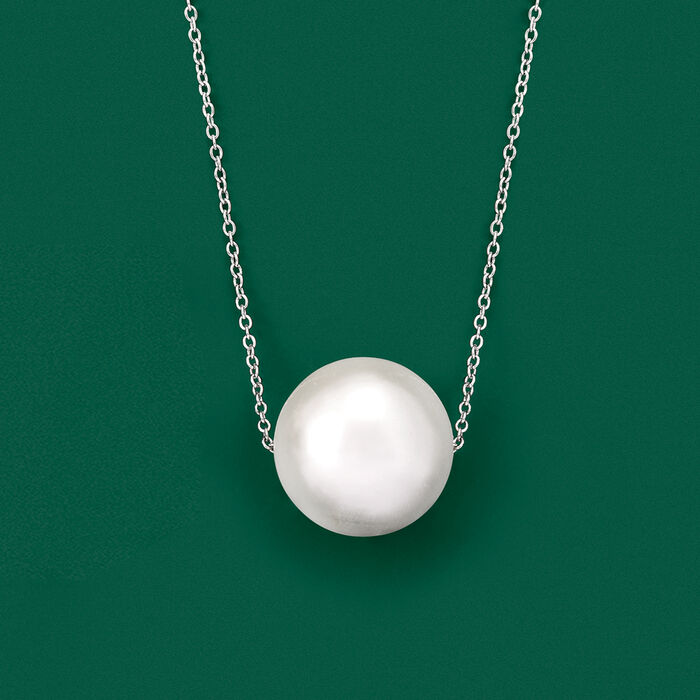 16mm Shell Pearl Necklace in Sterling Silver