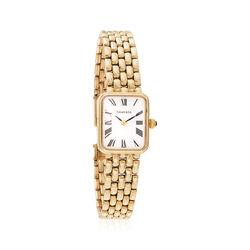 C. 1990 Vintage Tiffany Jewelry Women's 16mm 14kt Yellow Gold Watch, , default