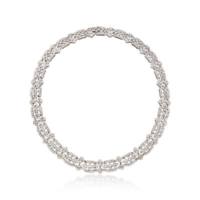 C. 1990 Vintage 16.00 ct. t.w. Diamond Collar Necklace in 18kt White Gold, , default