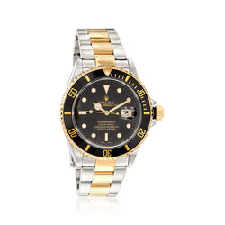 Certified Pre-Owned Rolex Submariner Men's 40mm Automatic Watch in Two-Tone, , default