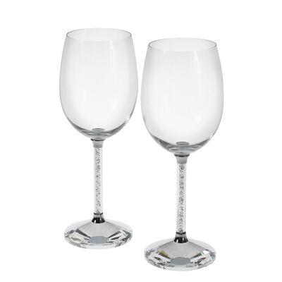 """""""Diamond"""" Set of 2 Goblet Glasses"""