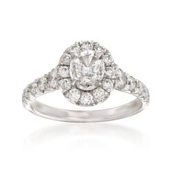 Henri Daussi 1.71 ct. t.w. Certified Diamond Engagement Ring in 18kt White Gold, , default