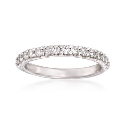 .45 ct. t.w. Synthetic Moissanite Wedding Ring in 14kt White Gold, , default