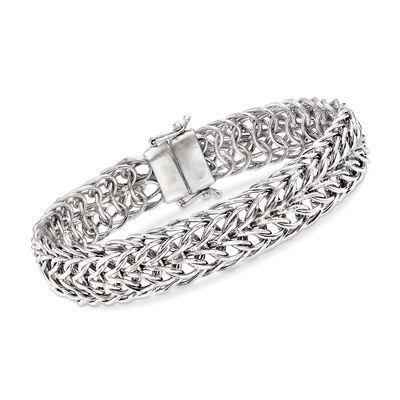 Sedusa-Link Bracelet in Sterling Silver with Magnetic Clasp, , default