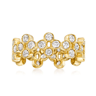 2.00 ct. t.w. Diamond Clover Eternity Band in 14kt Yellow Gold