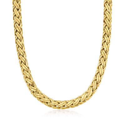 C. 2000 Vintage 14kt Yellow Gold Braided Necklace