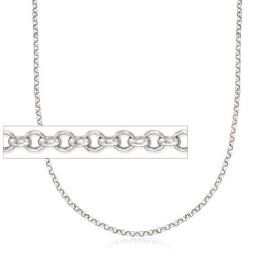 Belle Etoile 2mm Sterling Silver Rolo Chain