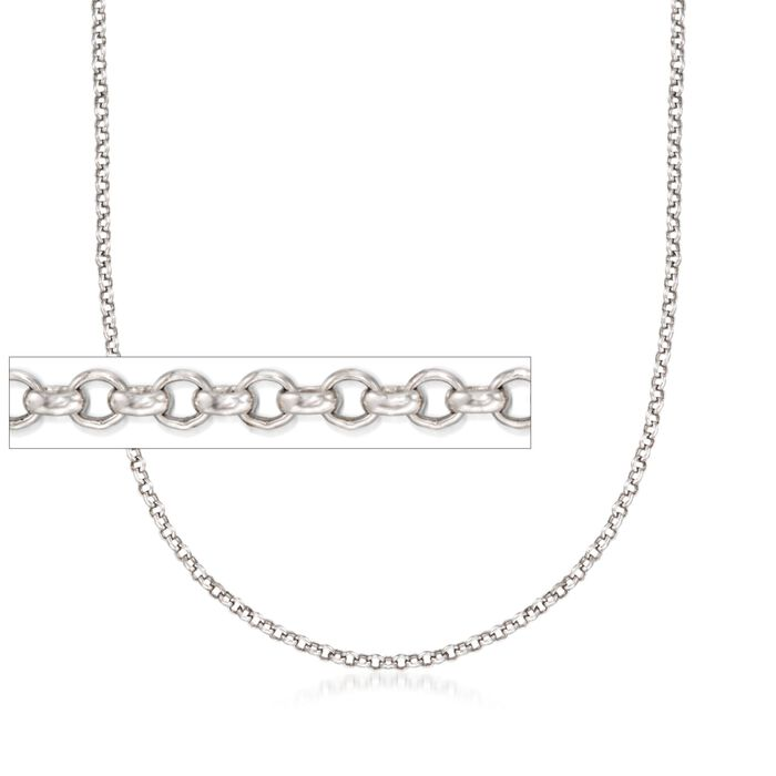 Belle Etoile 2mm Sterling Silver Rolo Chain, , default