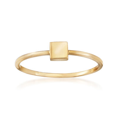 18kt Yellow Gold Square Ring