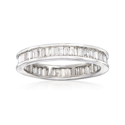 1.00 ct. t.w. Baguette Diamond Eternity Band in 14kt White Gold, , default