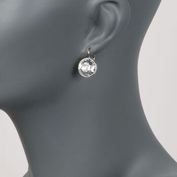 """Swarovski Crystal """"Bella"""" Crystal Drop Earrings in Silvertone, , default"""