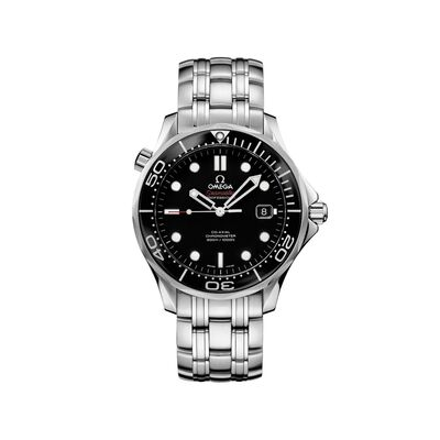 Omega Seamaster Diver Men's 41mm Stainless Steel Watch With Black Dial, , default