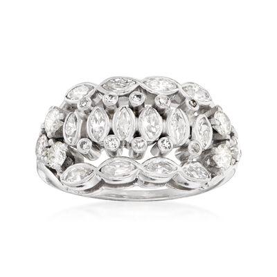 C. 1950 Vintage 1.00 ct. t.w. Diamond Ring in Platinum