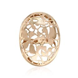 Italian 14kt Yellow Gold Openwork Floral Ring, , default