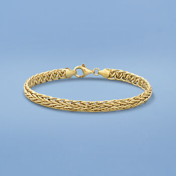 18kt Yellow Gold Wheat-Link Bracelet