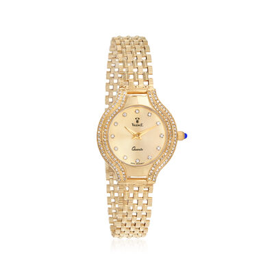 Vicence Women's 26mm .45 ct. t.w. Diamond Watch in 14kt Yellow Gold
