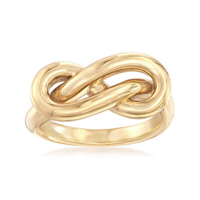 14kt Yellow Gold Figure 8 Knot Ring, , default
