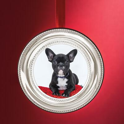 Cunill Italian Sterling Silver Beaded Frame Ornament, , default