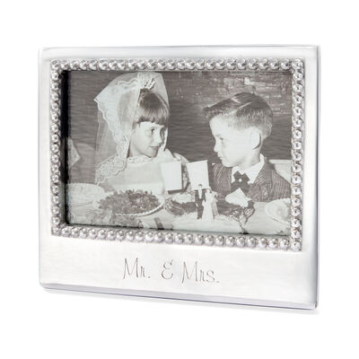 "Mariposa ""Mr. & Mrs."" 4x6 Photo Frame"