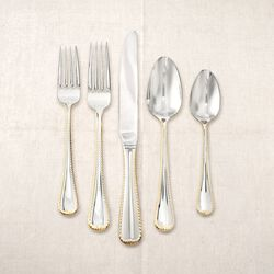 "Mikasa ""Cameo"" Two-Tone 18/10 Stainless Steel Flatware, , default"