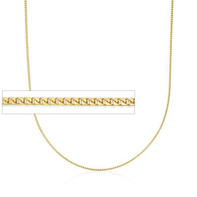 1.2mm 14kt Yellow Gold Franco Link Chain Necklace