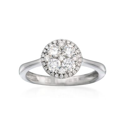 Gregg Ruth .66 ct. t.w. Diamond Ring in 18kt White Gold, , default