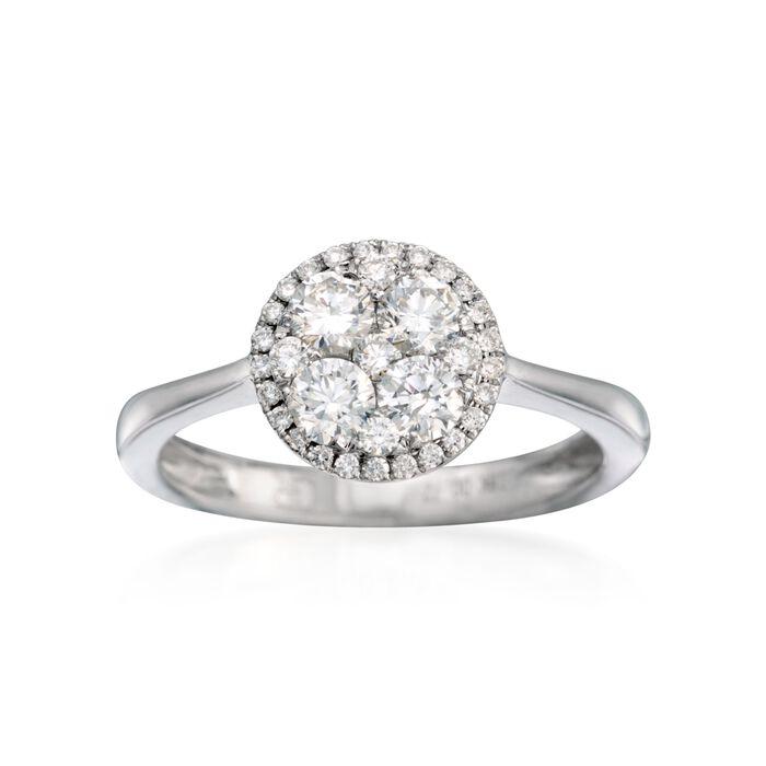 Gregg Ruth .66 ct. t.w. Diamond Ring in 18kt White Gold