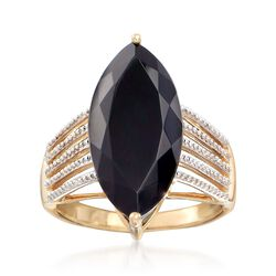 Black Onyx Ring in 14kt Yellow Gold, , default
