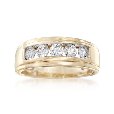 Men's 1.00 ct. t.w. Diamond Wedding Ring in 14kt Yellow Gold, , default