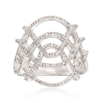 .25 ct. t.w. Diamond Openwork Ring in Sterling Silver, , default