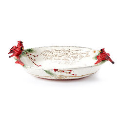 "Fitz and Floyd ""Cardinal"" Christmas Centerpiece Bowl, , default"