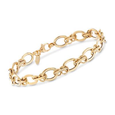Italian 18kt Yellow Gold Multi-Link Bracelet, , default