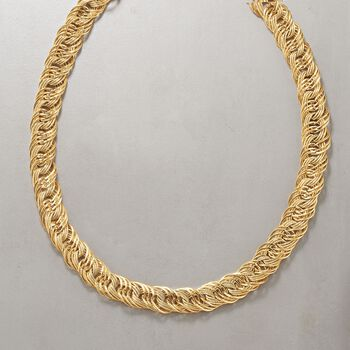 """14kt Yellow Gold Multi-Link Necklace. 18"""", , default"""