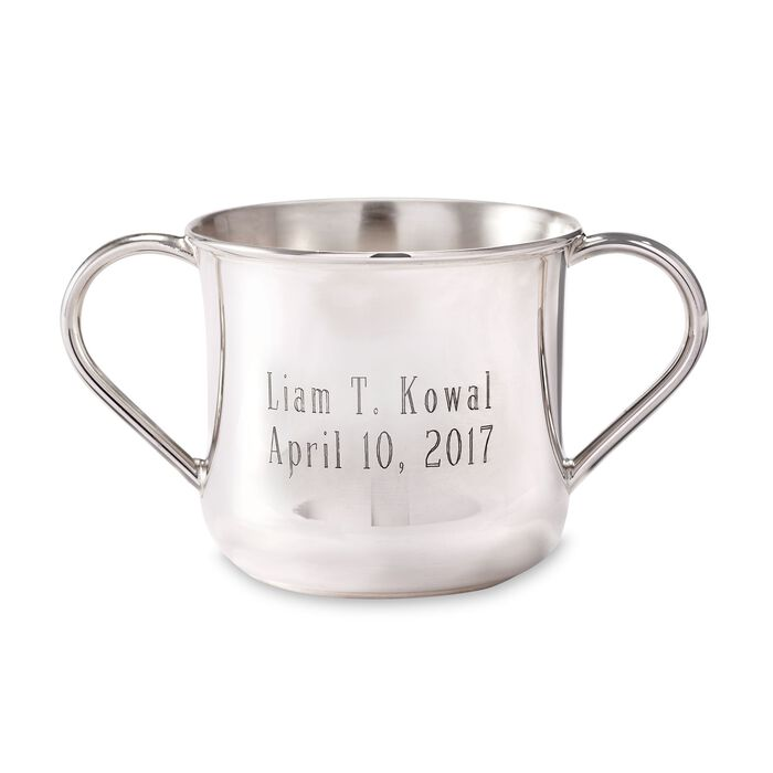 Sterling Silver Double-Handled Baby Cup, , default