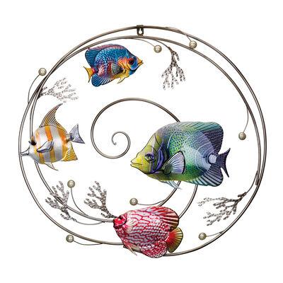 "Regal ""Luster"" Circle Fish Wall Decor, , default"