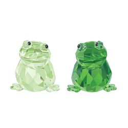 "Swarovski Crystal ""In Love - Angelo & Angelina"" Green Crystal Figurine Set: Two Frogs, , default"