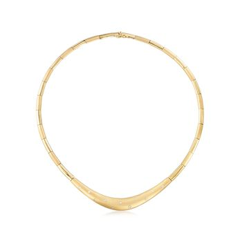 """C. 1990 Vintage .30 ct. t.w. Diamond Collar Necklace in 18kt Yellow Gold. 16"""", , default"""