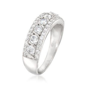 1.00 ct. t.w. CZ Ring in Sterling Silver, , default