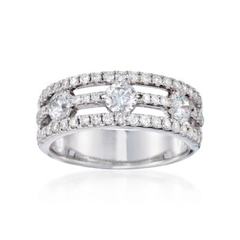1.15 ct. t.w. Diamond Ring in 18kt White Gold, , default
