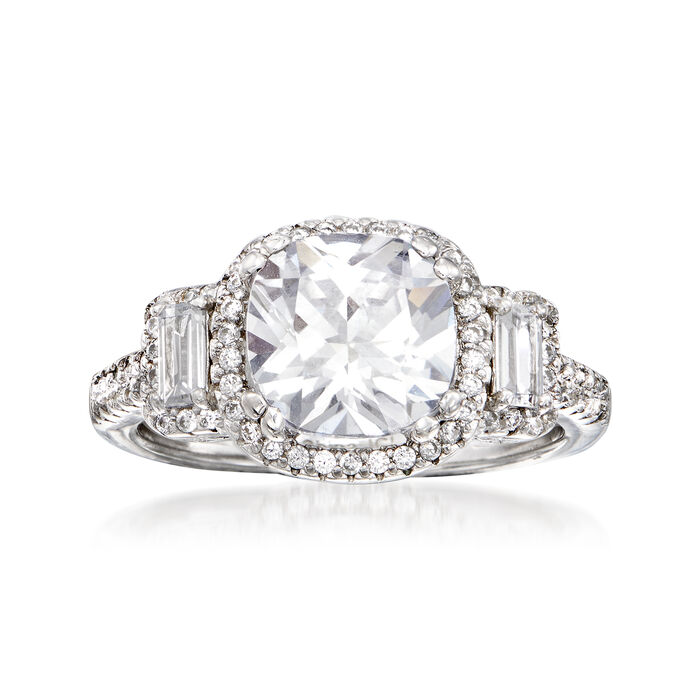 3.00 ct. t.w. CZ Ring in Sterling Silver