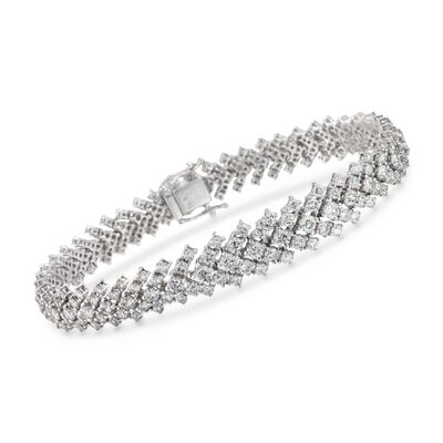 8.49 ct. t.w. Diamond Graduated Bracelet in 18kt White Gold, , default