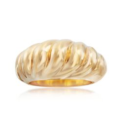 Andiamo 14kt Yellow Gold Shrimp Ring, , default