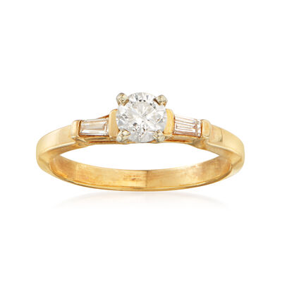 C. 1990 Vintage .50 ct. t.w. Diamond Ring in 14kt Yellow Gold, , default
