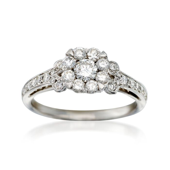 C. 2000 Vintage .80 ct. t.w. Diamond Ring in 18kt White Gold. Size 7, , default