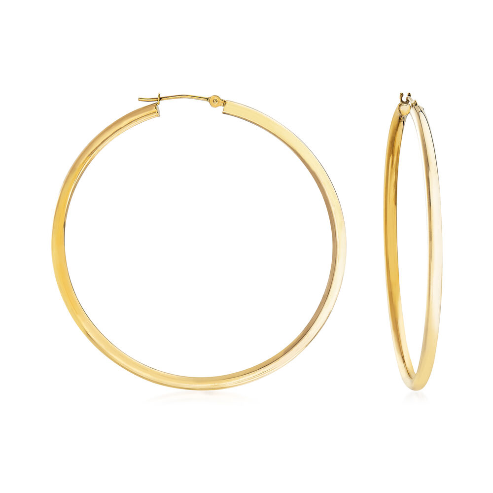 2 5mm 14kt Yellow Gold Hoop Earrings 2 Ross Simons