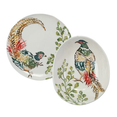 "Vietri ""Fauna"" Pheasants Dinnerware from Italy"